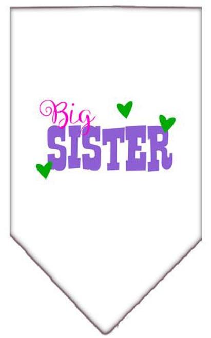 Big Sister Screen Print Bandana White Large