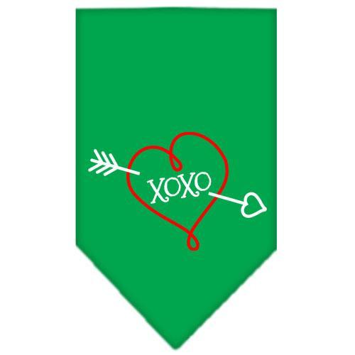Xoxo Screen Print Bandana Emerald Green Small