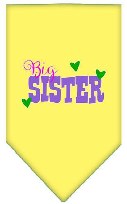 Big Sister Screen Print Bandana Yellow Large