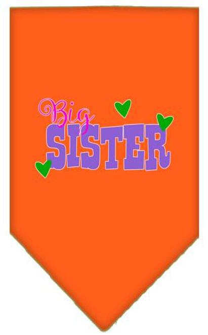Big Sister Screen Print Bandana Orange Large