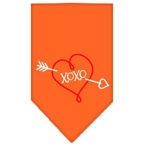Xoxo Screen Print Bandana Orange Small