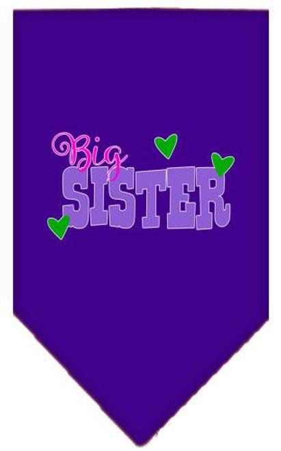 Big Sister Screen Print Bandana Purple Large