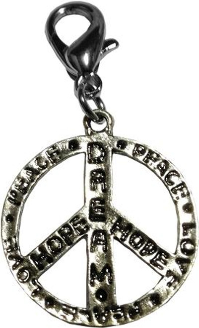 Dream, Hope, Love, Peace Sign Lobster Claw Charm