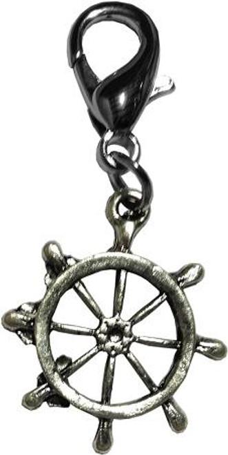 Captain's Wheel Lobster Claw Charm