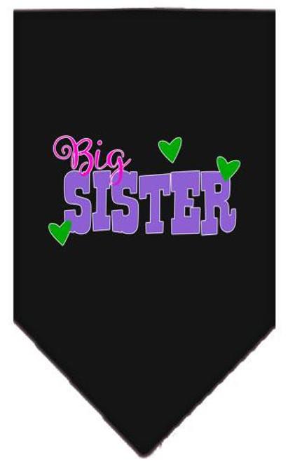 Big Sister Screen Print Bandana Black Large
