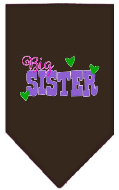 Big Sister Screen Print Bandana Cocoa Large