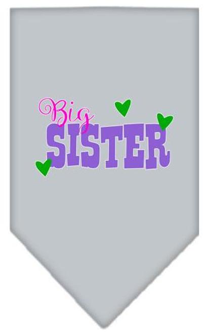 Big Sister Screen Print Bandana Grey Large