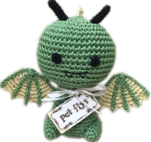 Knit Knacks Drogo The Dragon Organic Cotton Small Dog Toy