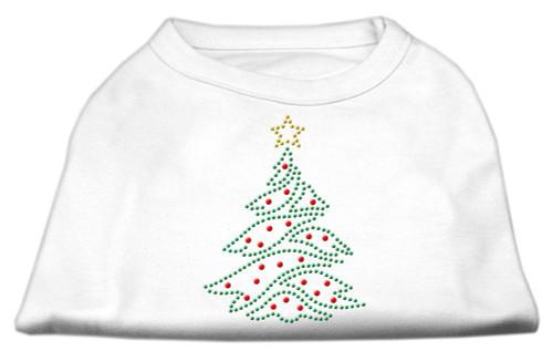 Christmas Tree Rhinestone Shirt White M (12)