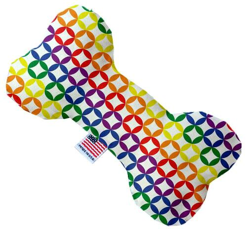 Rainbow Bright Diamonds 8 Inch Bone Dog Toy