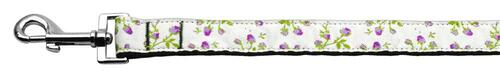 Roses Nylon Ribbon Leash Purple 1 Inch Wide 6ft Long - 125-020 1006PR