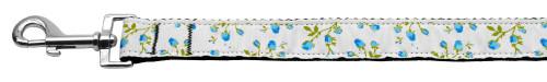 Roses Nylon Ribbon Leash Blue 1 Inch Wide 6ft Long - 125-020 1006BL