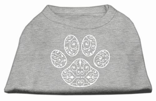 Henna Paw Screen Print Shirt Grey Med (12)