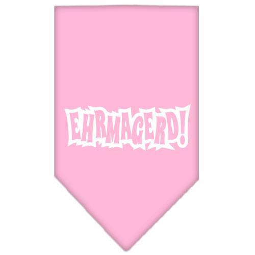 Ehrmagerd Screen Print Bandana Light Pink Small