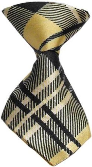 Dog Neck Tie Plaid Cream