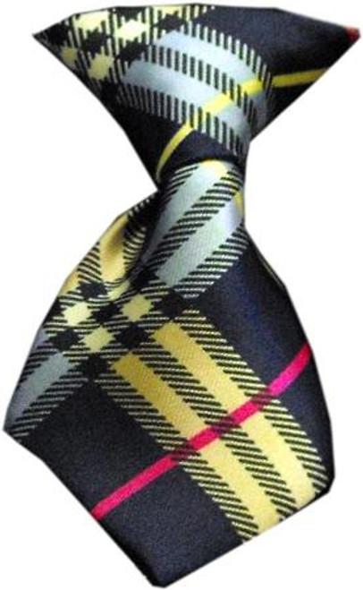 Dog Neck Tie Plaid Mix