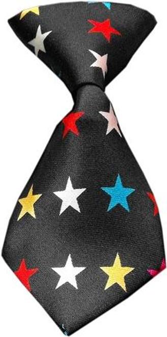 Dog Neck Tie Confetti Stars