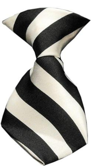 Dog Neck Tie Striped White