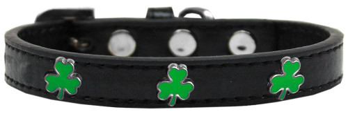 Shamrock Widget Dog Collar Black Size 16