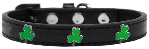 Shamrock Widget Dog Collar Black Size 10