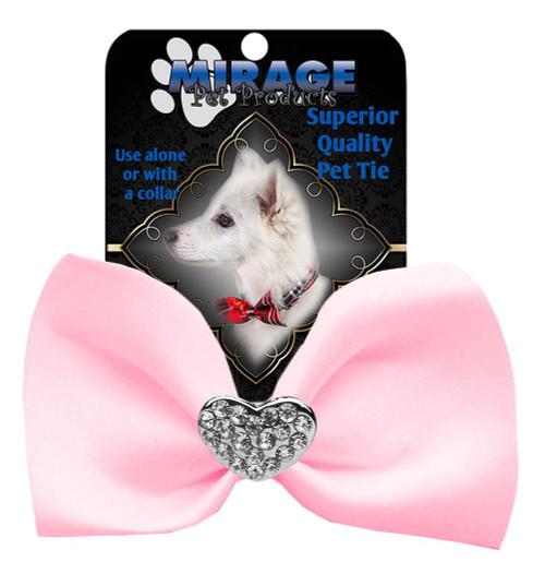 Crystal Heart Widget Pet Bowtie Light Pink
