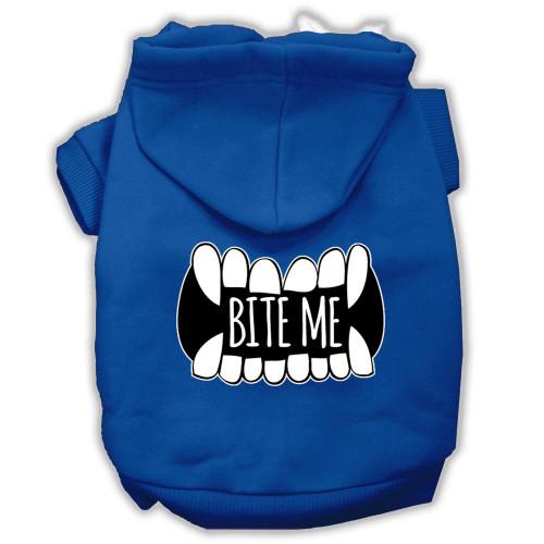 Bite Me Screenprint Dog Hoodie Blue L (14)