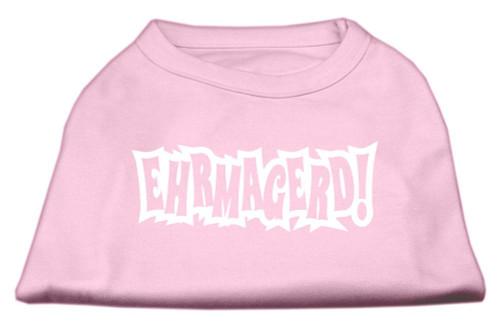 Ehrmagerd Screen Print Shirt Light Pink Sm (10)