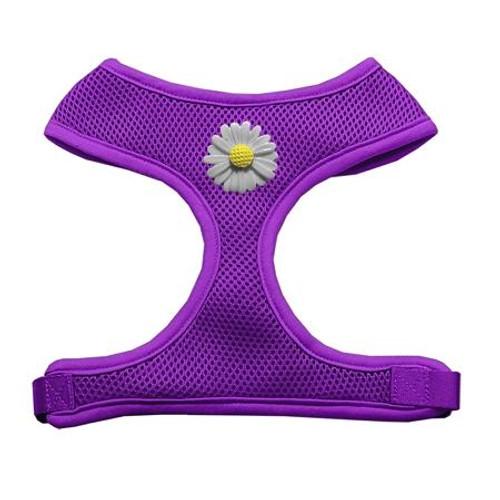 White Daisies Chipper Purple Harness Medium