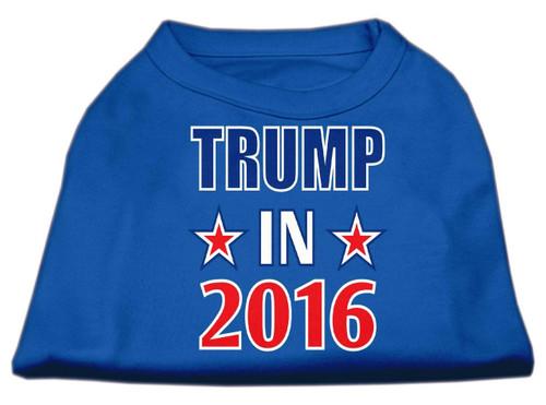 Trump In 2016 Election Screenprint Shirts Blue Sm (10)