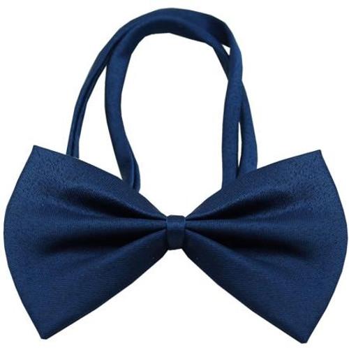 Plain Navy Blue Bow Tie