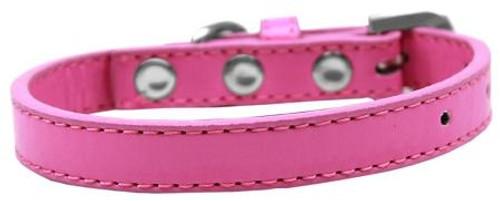 Wichita Plain Dog Collar Bright Pink Size 12