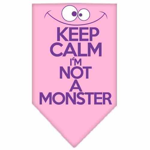 Keep Calm Screen Print Bandana Light Pink Large