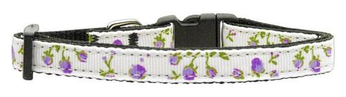Roses Nylon Ribbon Collar Purple Small - 125-020 SMPR