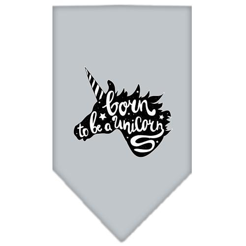 Born To Be A Unicorn Screen Print Bandana Grey Small