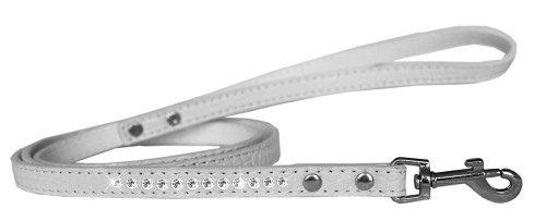 Clear Jewel Croc Leash White 1/2'' Wide X 4' Long