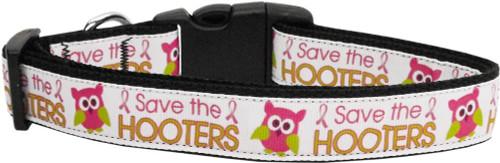 Save The Hooters Nylon Dog Collars Medium