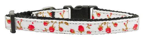 Roses Nylon Ribbon Collar Red Small - 125-020 SMRD