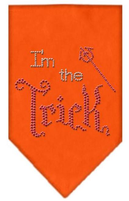 I'm The Trick Rhinestone Bandana Orange Small