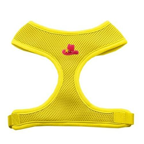 Pink Cowboy Hat Chipper Yellow Harness Medium