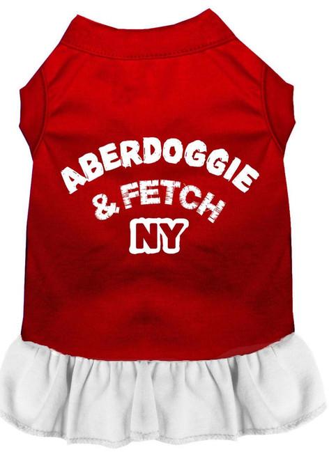 Aberdoggie Ny Screen Print Dress Red With White Xxxl (20)