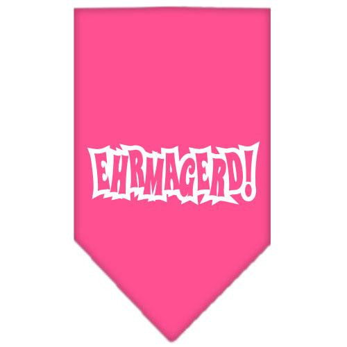 Ehrmagerd Screen Print Bandana Bright Pink Small