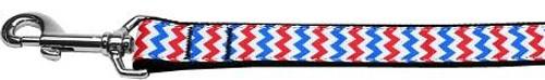 Patriotic Chevrons Nylon Dog Leash 4 Foot
