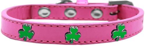 Shamrock Widget Dog Collar Bright Pink Size 12