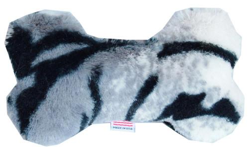 """6"""" Plush Bone Dog Toy Siberian Tiger"""