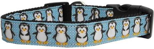 Penguins Nylon Ribbon Collars Large