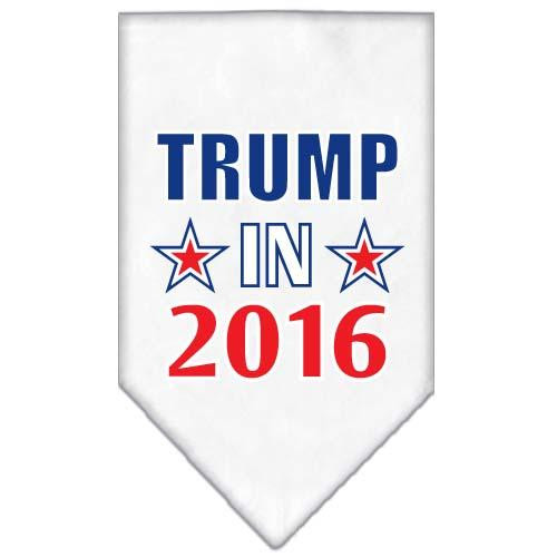 Trump In 2016 Election Screenprint Bandanas White Small