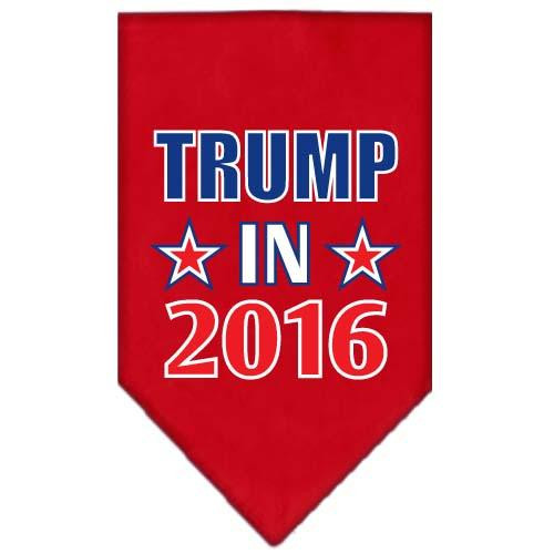 Trump In 2016 Election Screenprint Bandanas Red Small