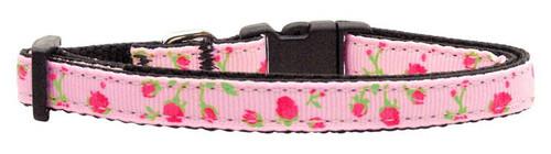 Roses Nylon Ribbon Collar Light Pink Small - 125-020 SMLPK
