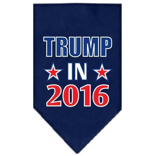 Trump In 2016 Election Screenprint Bandanas Navy Blue Small