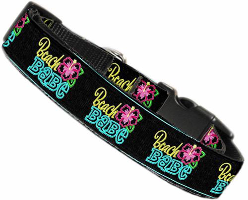 Beach Babe Nylon Dog Collar Md